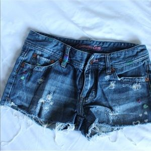 American Eagle Short Denim Shorts - Size 0